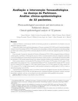 Avaliação e intervenção fonoaudiológica na doença de Parkinson