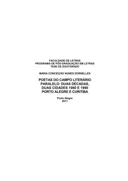 POETAS DO CAMPO LITERÁRIO PARALELO: DUAS DÉCADAS