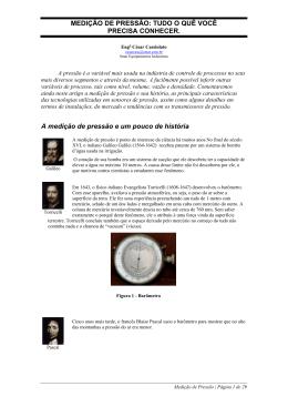 MEDIÇÃO DE PRESSÃO - Associação PROFIBUS Brasil