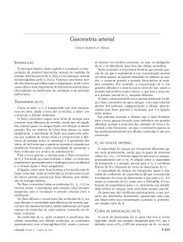 Gasometria arterial - Jornal Brasileiro de Pneumologia