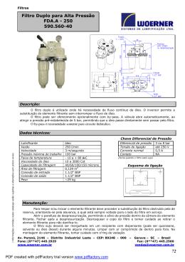 72 Filtro Duplo para Alta Pressão FDA.A - 250 590.560-40
