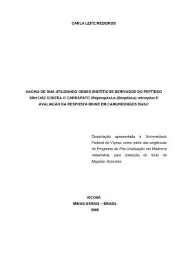CARLA LEITE MEDEIROS VACINA DE DNA UTILIZANDO