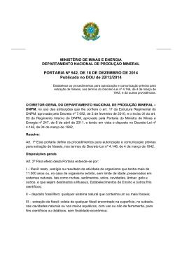 PORTARIA Nº 542, DE 18 DE DEZEMBRO DE 2014
