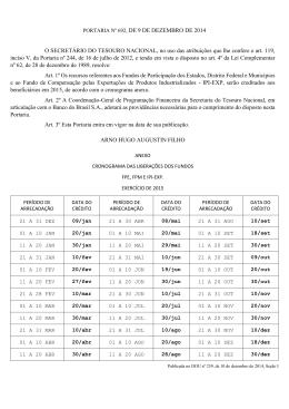 PORTARIA Nº 692, DE 9 DE DEZEMBRO DE 2014 O SECRETÁRIO