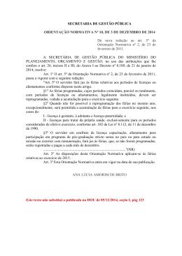Orientação Normativa nº 10/2014/SGP