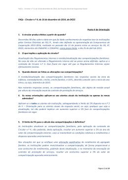 FAQs - Circular n.º 4, de 16 de dezembro de 2014, da DGSS