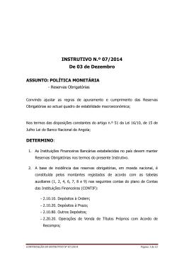 INSTRUTIVO N.º 07/2014 De 03 de Dezembro