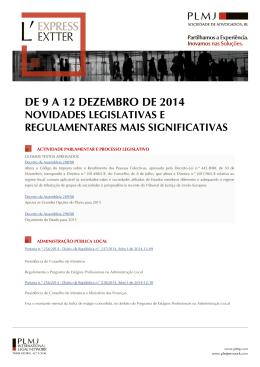 DE 9 A 12 DEZEMBRO DE 2014