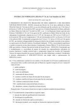 Instrução Normativa Ibama 14/2014