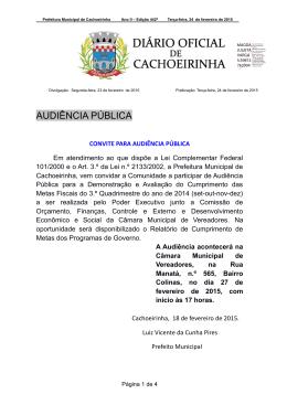 24-02-2015 - Prefeitura Municipal de Cachoeirinha