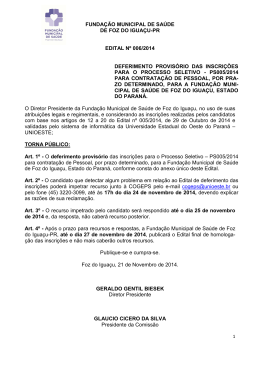 4. Edital nº 006-2014- Deferimento de Inscrições