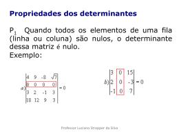 Propriedade dos determinantes
