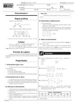 Matrizes - Determinantes - Teoria