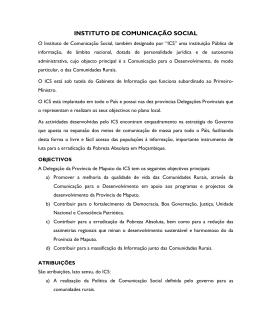 INSTITUTO DE COMUNICAÇÃO SOCIAL