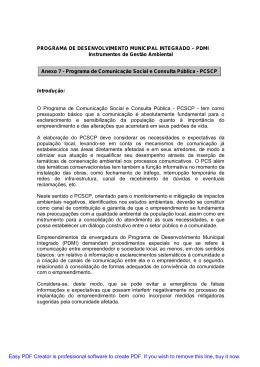 Programa de Comunicação Social e Consulta Pública