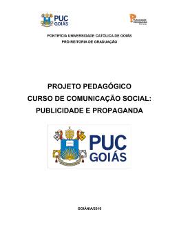 PROJETO PEDAGÓGICO CURSO DE COMUNICAÇÃO SOCIAL
