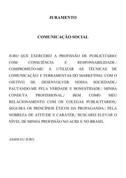 JURAMENTO COMUNICAÇÃO SOCIAL