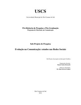 Evolução na Comunicação: estudos nas Redes Sociais