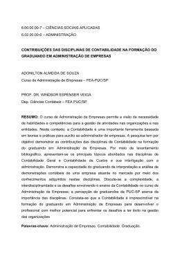 Contribuições das disciplinas de contabilidade na - PUC-SP