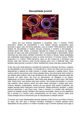 A sexualidade juvenil Pr Carlão Postado em 01/05/2014