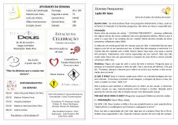 Visualizar lição - Comunidade Cristã Transformados de João Pinheiro