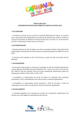 EDITAL 005/2015 CONCURSO DAS ESCOLAS DE
