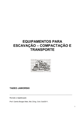 equipamentos para escavação - departamento de transportes da ufpr