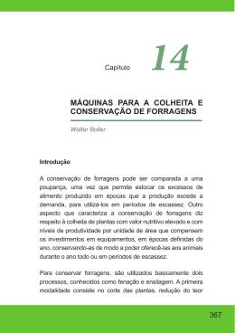 MÁQUINAS PARA A COLHEITA E CONSERVAÇÃO DE FORRAGENS