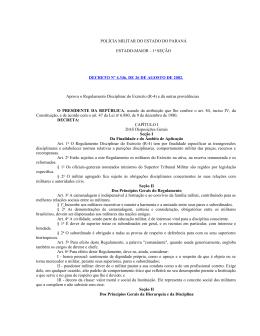 Decreto 4.346 26 de agosto de 2002 Regulamento