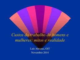 Apresentação da Diretora da OIT no Brasil, Laís Abramo