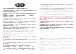 Lista - Geometria Analítica