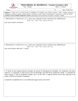 Nº ______ Data 09/06/2011 1. Determine os valores de