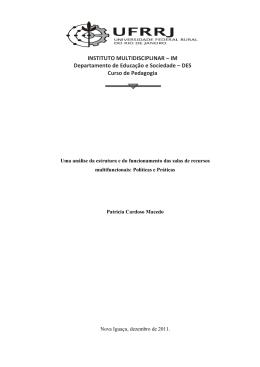 Uma análise da estrutura e do funcionamento das salas de recursos
