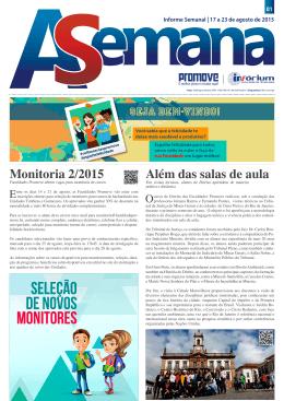 Monitoria 2/2015 Além das salas de aula