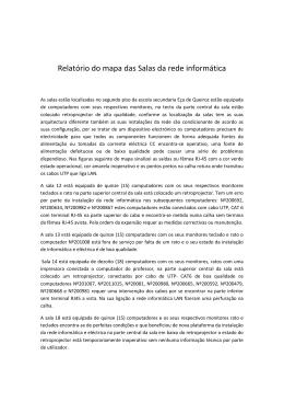 Relatório do mapa das Salas da rede informática