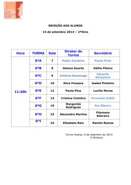 MAPAS DAS SALAS - Escola Madeira Torres