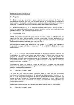 Pedido de esclarecimento nº 06 Sra. Pregoeira, 1