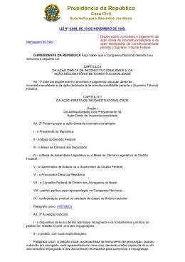 Lei da Ação Direta de Inconstitucionalidade - PUC-SP