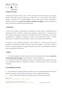 Cotação - 09/2015 - Pinacoteca do Estado de São Paulo