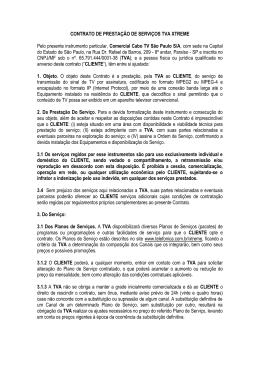 contrato de prestação de serviços tv por assinatura
