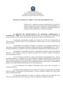 instrução normativa drei 05 - Secretaria da Micro e Pequena Empresa