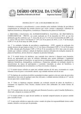 INSTRUÇÃO PREVIC Nº 07, DE 12.12.2013