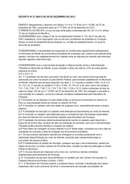 DECRETO Nº 27.589/13 DE 06 DE DEZEMBRO DE 2013. EMENTA