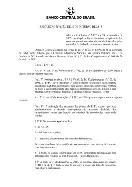 Resolução nº 4.275, de 31 de outubro de 2013