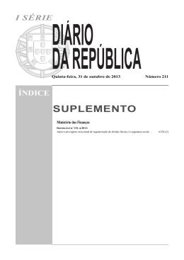 n.º 151-A/2013 - Segurança Social