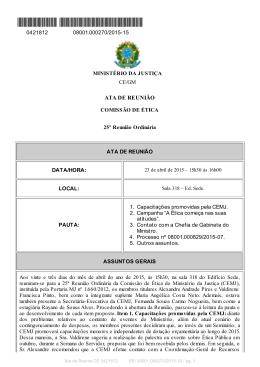 ATA DE REUNIÃO - Ministério da Justiça