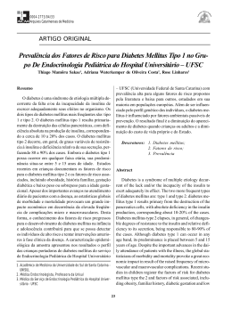 Prevalência dos Fatores de Risco para Diabetes Mellitus Tipo 1 no