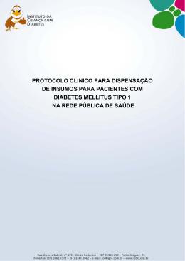 Protocolo de Insumos ICD - Instituto da Criança com Diabetes