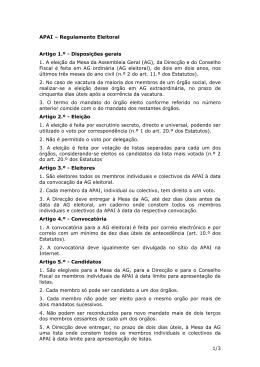APAI – Proposta de Regulamento Eleitoral
