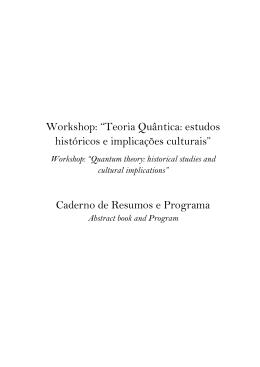 Caderno de Resumos - lacic - Universidade Federal da Bahia